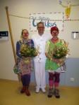 Klinikclowns werden von Univ Prof Dr Th. Meyer begruesst