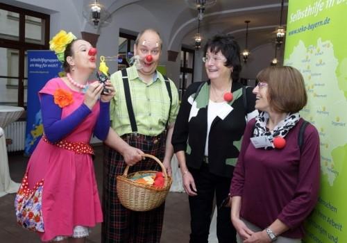 Klinikclowns Machnix und Böhnchen beim 10. Bayerischen Selbsthilfekongress