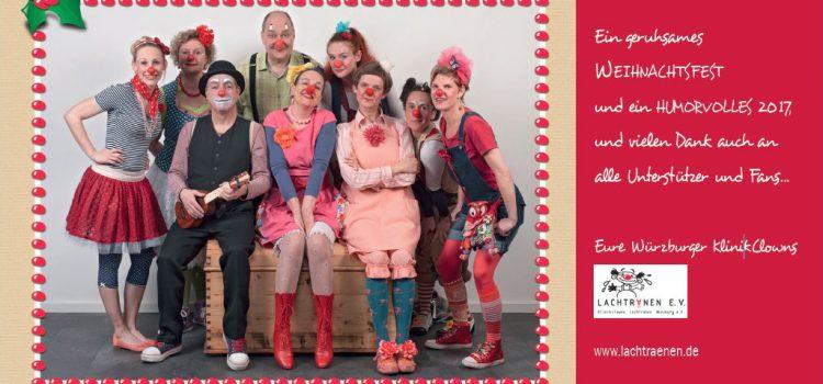 Die Klinikclowns wünschen ein geruhsames Weihnachtsfest und ein humorvolles 2017