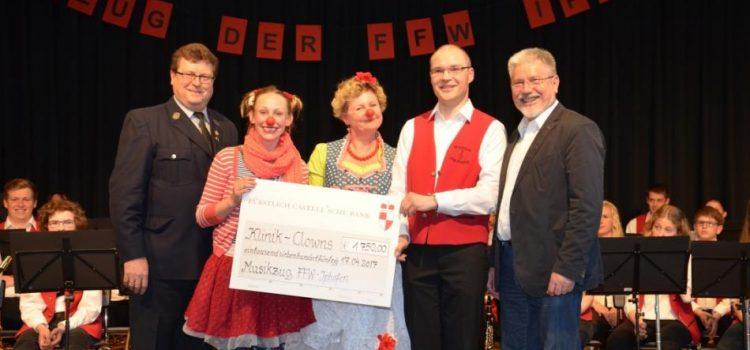 Spendenübergabe beim Osterkonzert des Musikzuges der FFW Iphofen