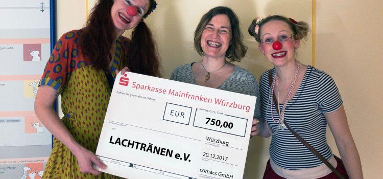 Spendenübergabe der Comacs GmbH an die Klinikclowns