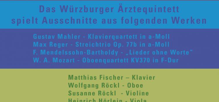 LACHEN IST GESUND Benefizkonzert des Würzburger Ärztequintetts zugunsten der Klinikclowns Lachtränen e.V.