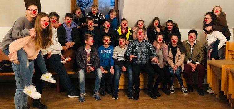 Präsentation unserer Clownsarbeit bei den Konfirmanden und Präparanden in Remlingen
