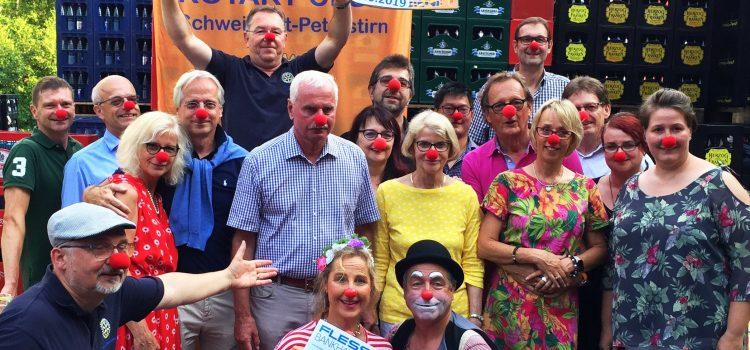 Rotary hilft Kindern: KlinikClowns Würzburg erhalten 1.500 € vom Raftrace