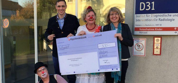 Die Dorfner Gruppe unterstützt die KlinikClowns Würzburg