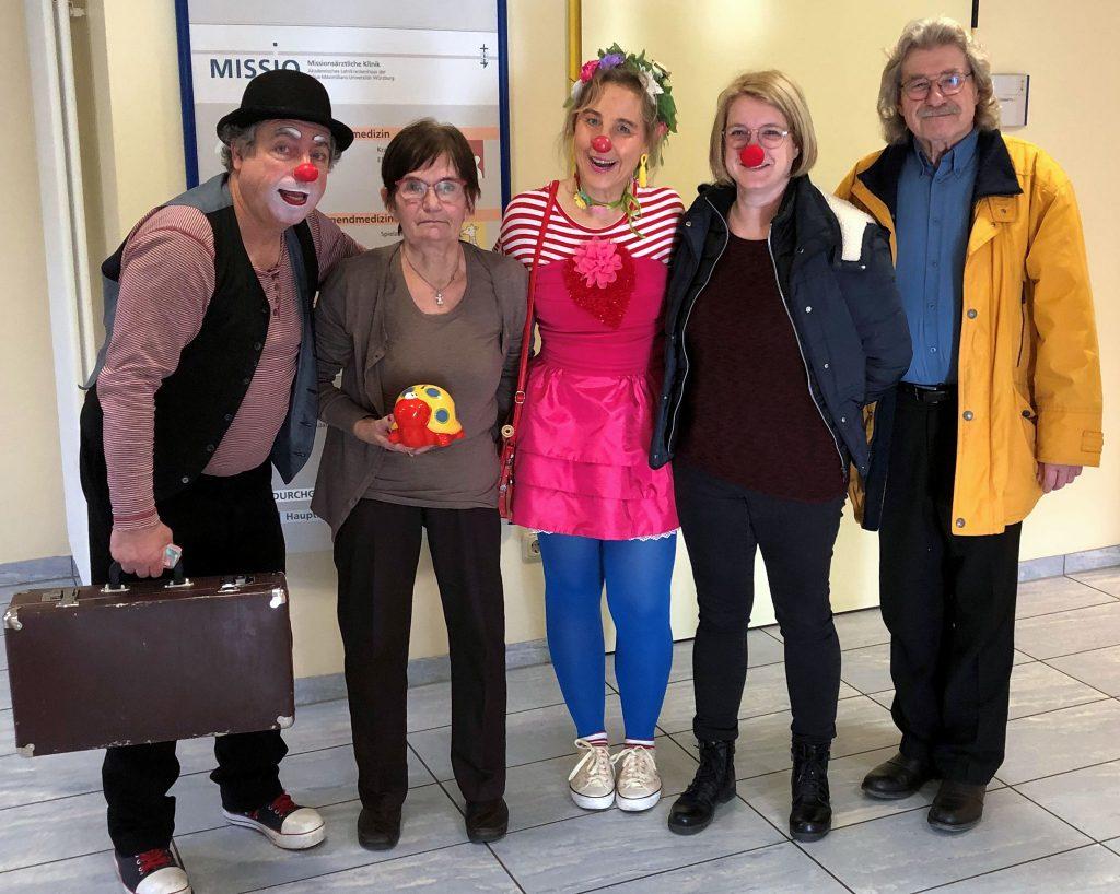 Klinikclowns Würzburg Spendenübergabe