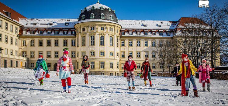 KlinikClowns Lachtränen Würzburg meistern Jerusalema-Challenge