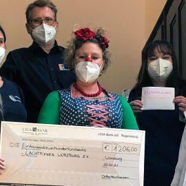 Ortho Mainfranken spendet 1206 € an die Klinikclowns Lachtränen Würzburg