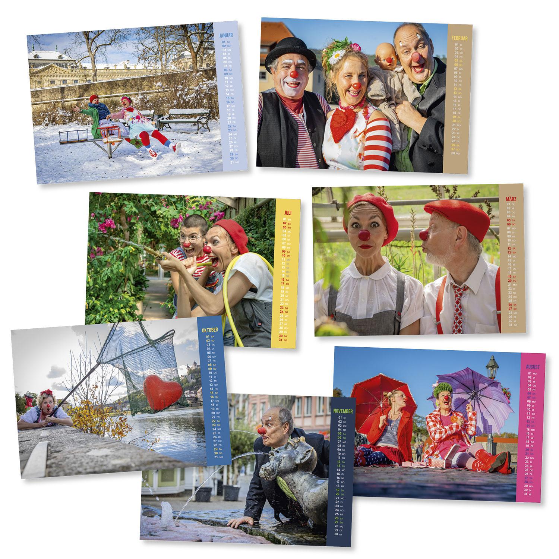 Charity Fotokalender 2022 der Würzburger KlinikClowns