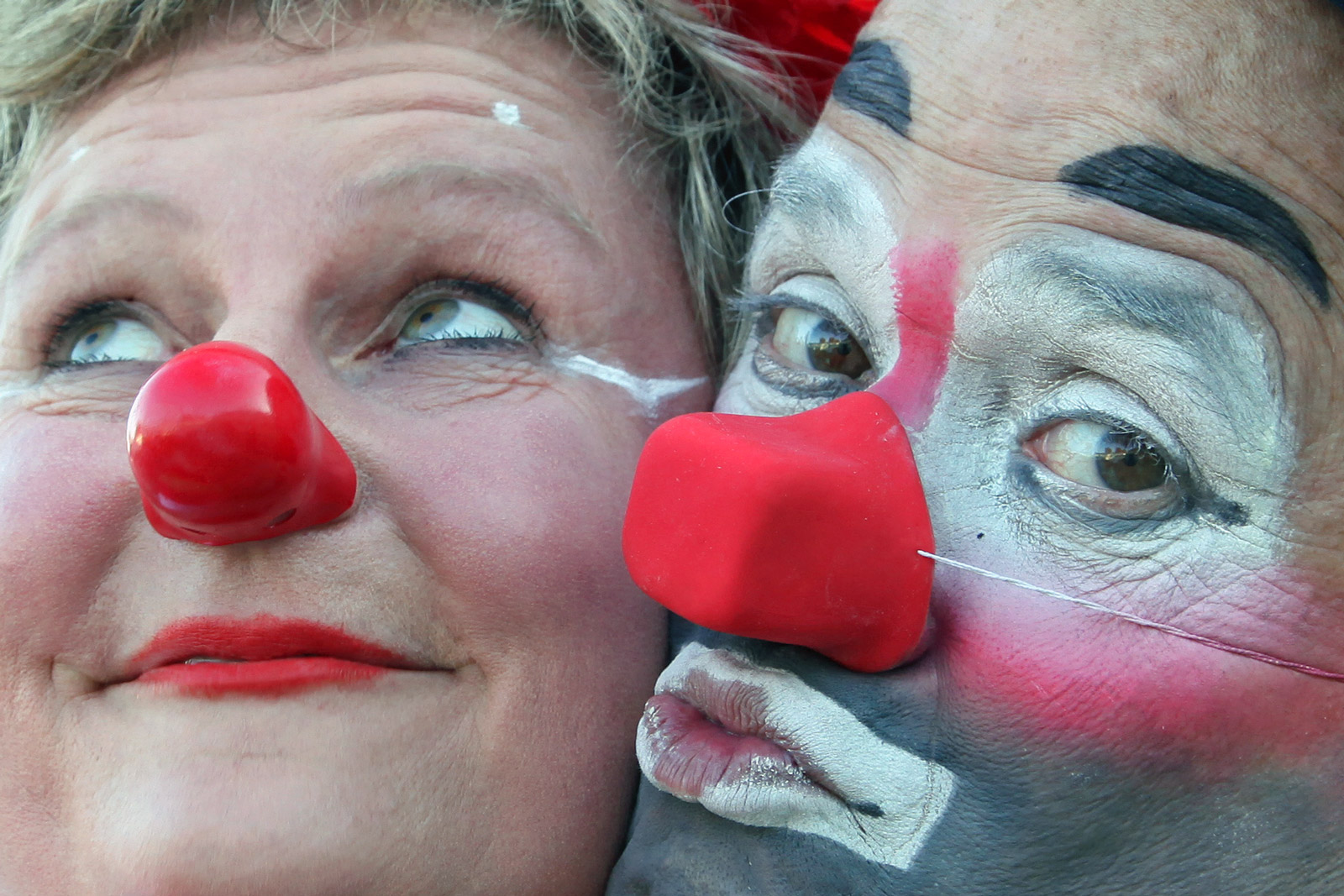 Klinikclownin Schlawine und Roncalli Clown Oriol .. im Herzen vereint ...